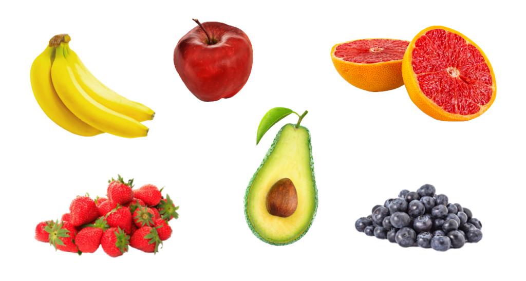 Olika frukter och bär