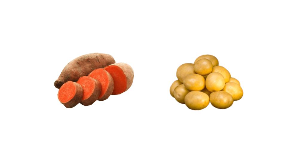 Sötpotatis och potatis